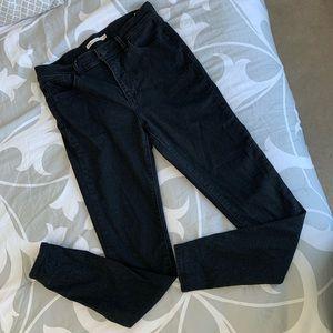LEVI 721 Black High Rise Super Skinny Jeans